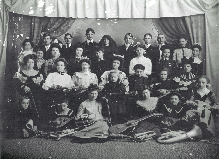 Augusta F O'Malley Music Class Late 1890s
