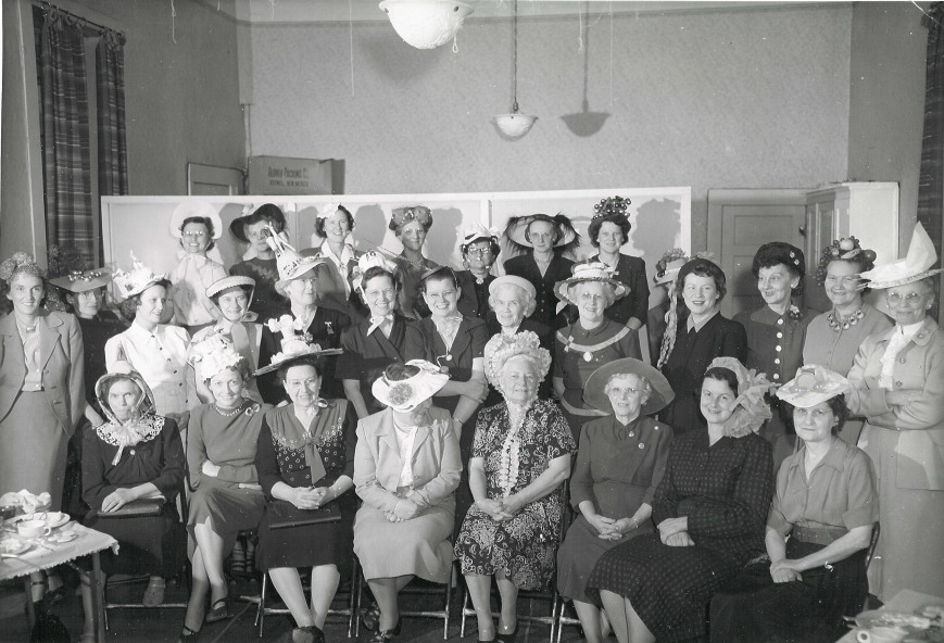 Augusta F O'Malley Womens Club Hat Party 1948