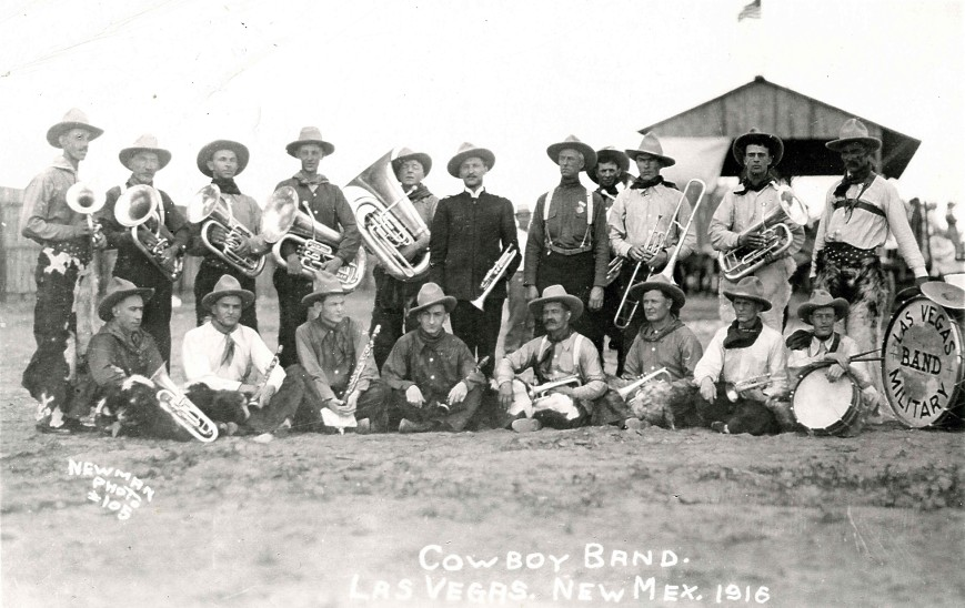 Charles F O'Malley in Cowboy Band 1916